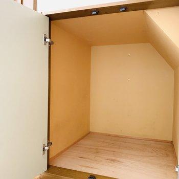 階段下にはちゃっかり収納が。
