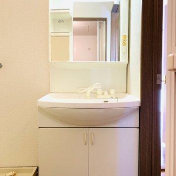 大きめの洗面所で朝もゆったりと準備