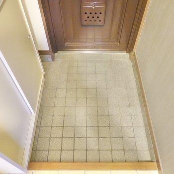 靴の着脱がしやすい、適度な広さの玄関です。