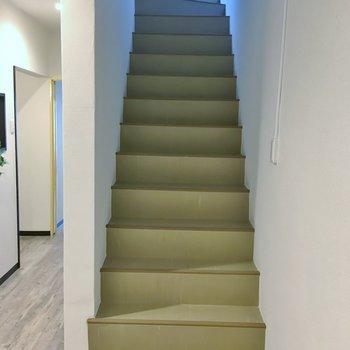 お部屋の階段を登って屋上へ
