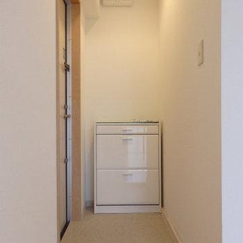 玄関も広い!※写真は2階同間取り・別部屋のものです。