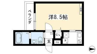 (仮称)西院六反田町共同住宅Ⅱ の間取り