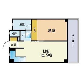 LDKも洋室もゆったりめの間取り。