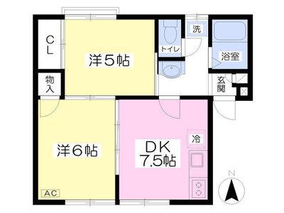 平塚8分アパート の間取り