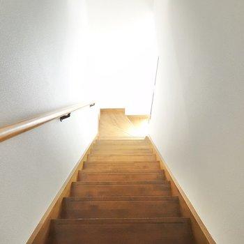 階段を上から見下ろすとこんな感じ。