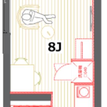 Room Diagram. 17.24 m2.