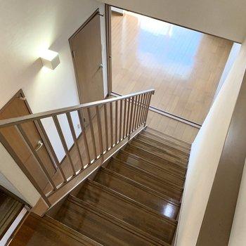 下の階に行きましょう。