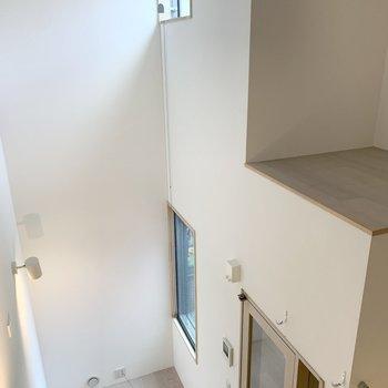 上の方にも、窓が......!