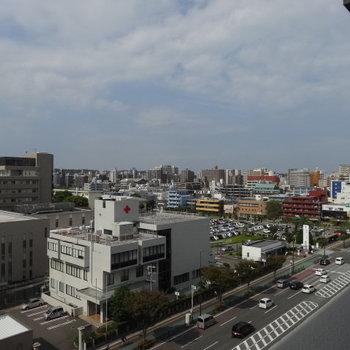 9階だから空も見えて気持ちいい〜!