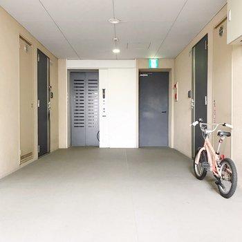 共用廊下も綺麗でした。