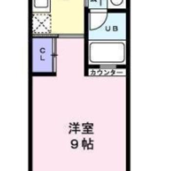 パッと見シンプルなお部屋。