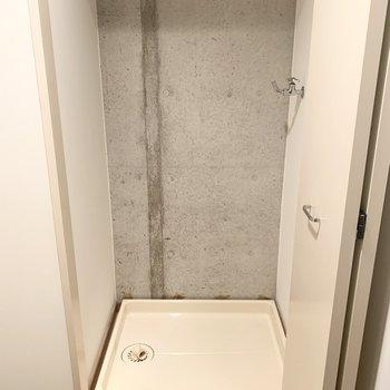 玄関横の戸を開けると洗濯パンでてきました