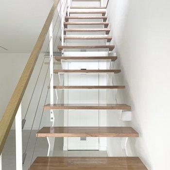 階段のぼります〜