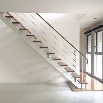 この階段がたまらん〜