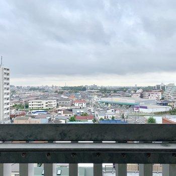 高層階ならではの眺め