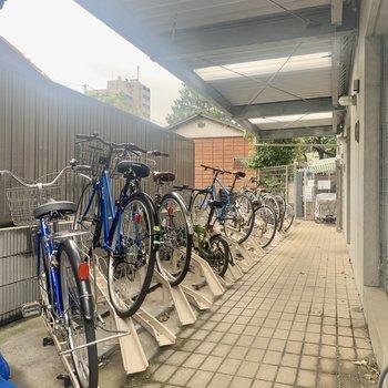 自転車置き場の先には、幼稚園がありましたよ