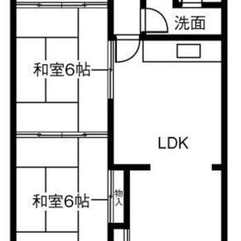 間取りは和室が2つある2SLDK。