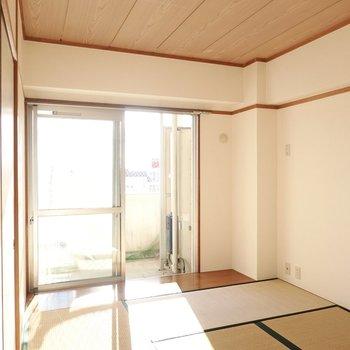 南側の洋室も同じように明るい。約6帖とちょうどいい広さで、寝室にも仕事場にも◎