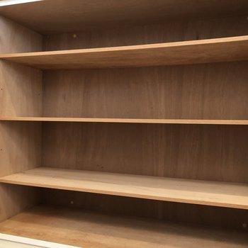 靴箱、十分な広さがありますね。※写真は5階の反転間取り別部屋のものです