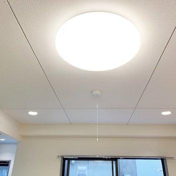 照明はダウンライトと大きなまあるいのが付いてます◯