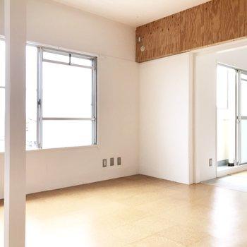 窓も大きくて換気も日当たりも◎(※写真は5階の反転間取り別部屋のものです)
