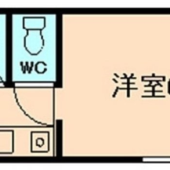 1人暮らしにオススメのワンルーム。
