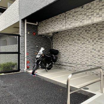 バイク置き場もあります