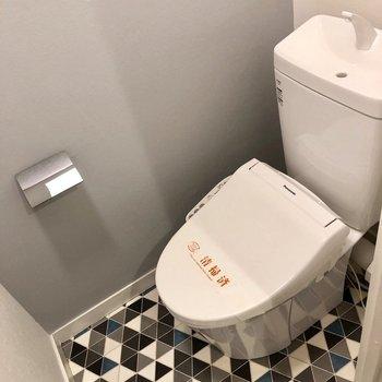 トイレはちょっと大人カッコいい雰囲気。