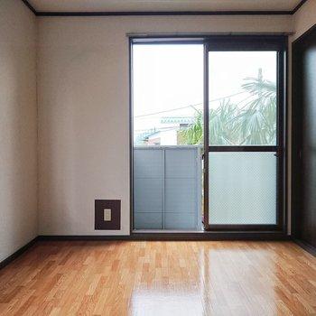 【西側洋室】シックな扉の色がアクセントになっています。