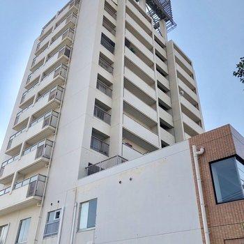 11階建ての大きなマンションです。