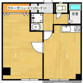 2部屋とも広々。