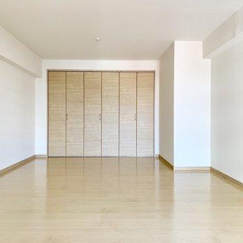 色々詰められそうな広々洋室です。