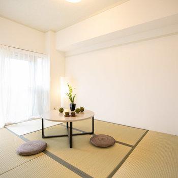 和室は子どもが遊んだり、来客にもあると便利ですよ〜※画像は別間取りのモデルルーム、家具配置の参考にご覧ください