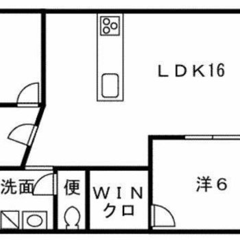 洋室はいずれも6帖としっかりした広さ。