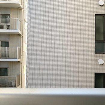 前にはお向かいのマンション。