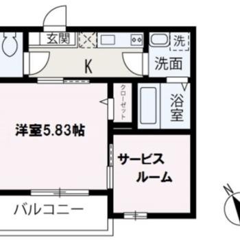 動線が整理された、1SKのお部屋です。