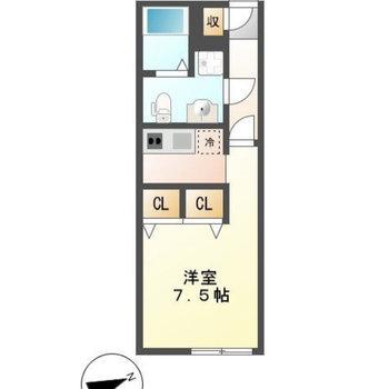 1Rのお部屋です。