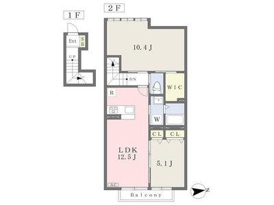 三ツ境12分アパート の間取り