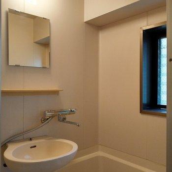 2点ユニット。歯磨きはここで。窓付きで換気もできる!