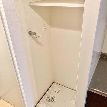 洗濯機置場はキッチン左に。