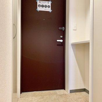 ゆったりスペースの玄関。