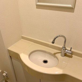 トイレには洗面台もあるので、すぐ手が洗うことができます。※写真は前回募集時のものです
