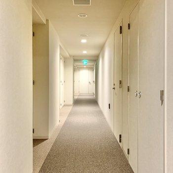 共用部の床は絨毯なので、足音が気になりませんね