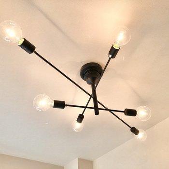 【DK】ふと、見上げると6方向に伸びるオシャレな電球が照らしてくれていました。※写真は5階の同間取り別部屋のものです