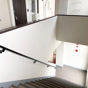 こんな広い共用階段珍しい!