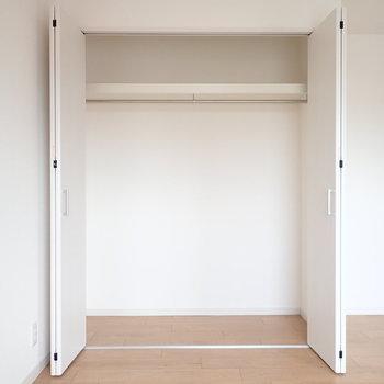 洋室の収納。収納ボックスを使って効率よく整理したいな。