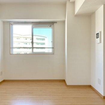 角部屋の特権、側面に窓。