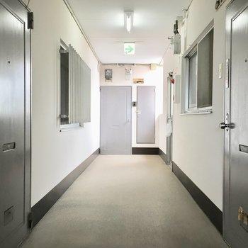 共用部】廊下はかなり渋めです。