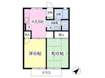 鶴川15分アパート の間取り