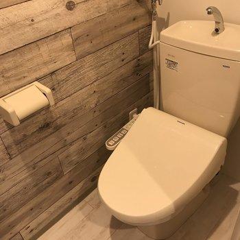 おトイレもピカピカ※写真は同間取り別部屋